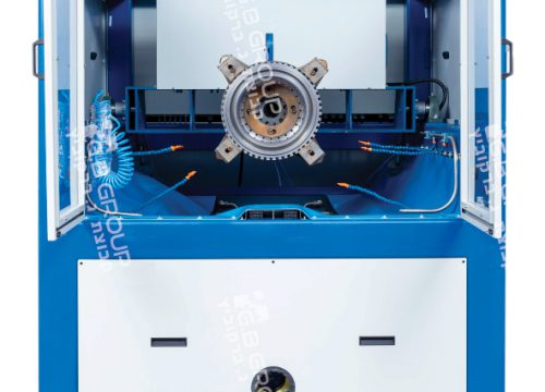 מכונת גימור בוויברציה וזרוע מכנית