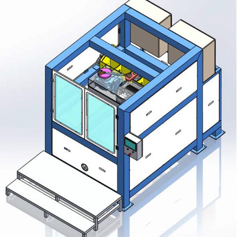 image project - מכונת גימור בוויברציה וזרוע מכנית