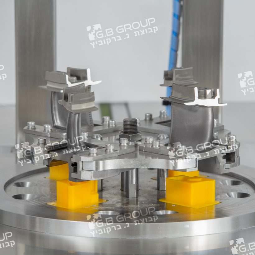 image project - מכונת שטיפה  ללהבי מנועי טורבינה